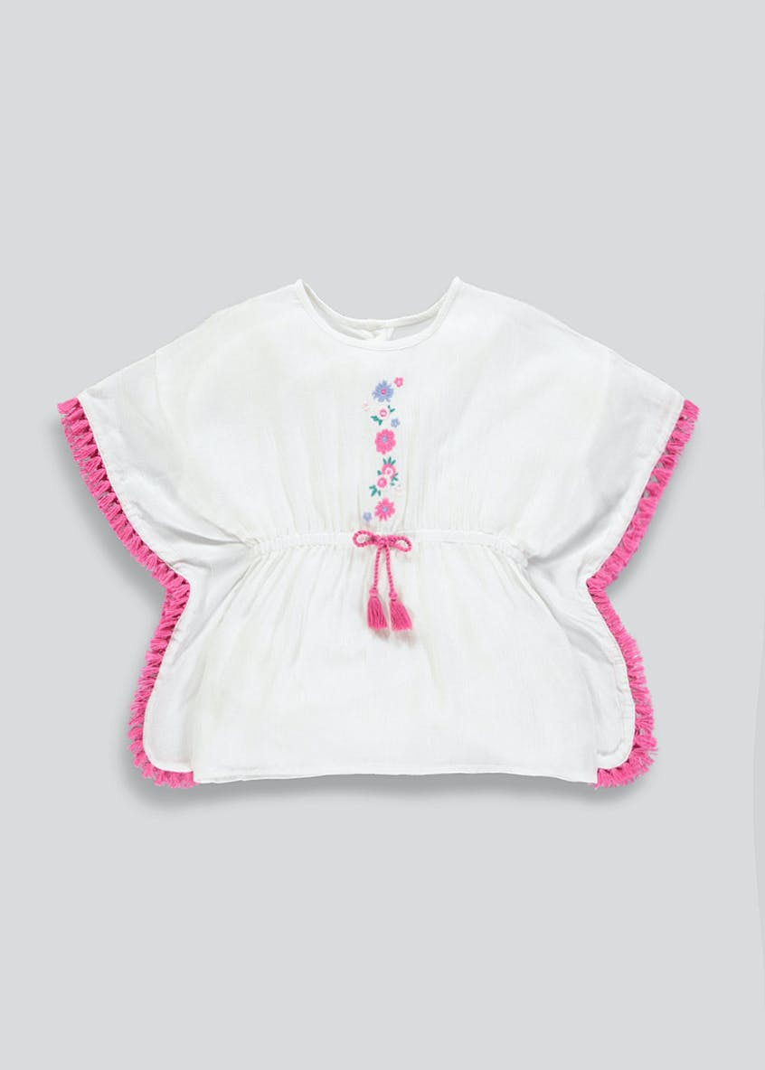 Girls Floral Embroidered Kaftan (9mths-6yrs)