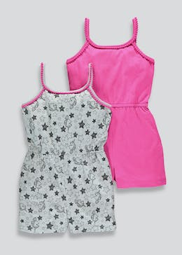 Girls 2 Pack Playsuits (4-13yrs)