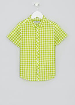 Boys Short Sleeve Check Shirt (4-13yrs)