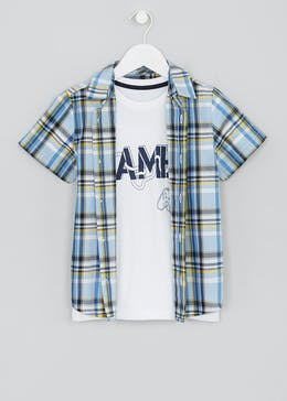 Boys Shirt & T-Shirt Set (4-13yrs)