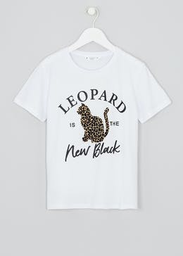 Girls Candy Couture Leopard T-Shirt (9-16yrs)