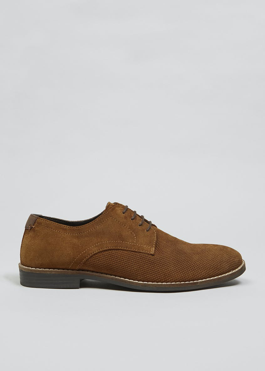 Real Suede Perforated Gibson Brogues