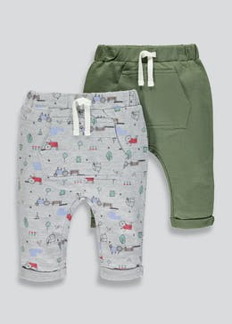 Unisex 2 Pack Tractor Jogging Bottoms (Tiny Baby-18mths)