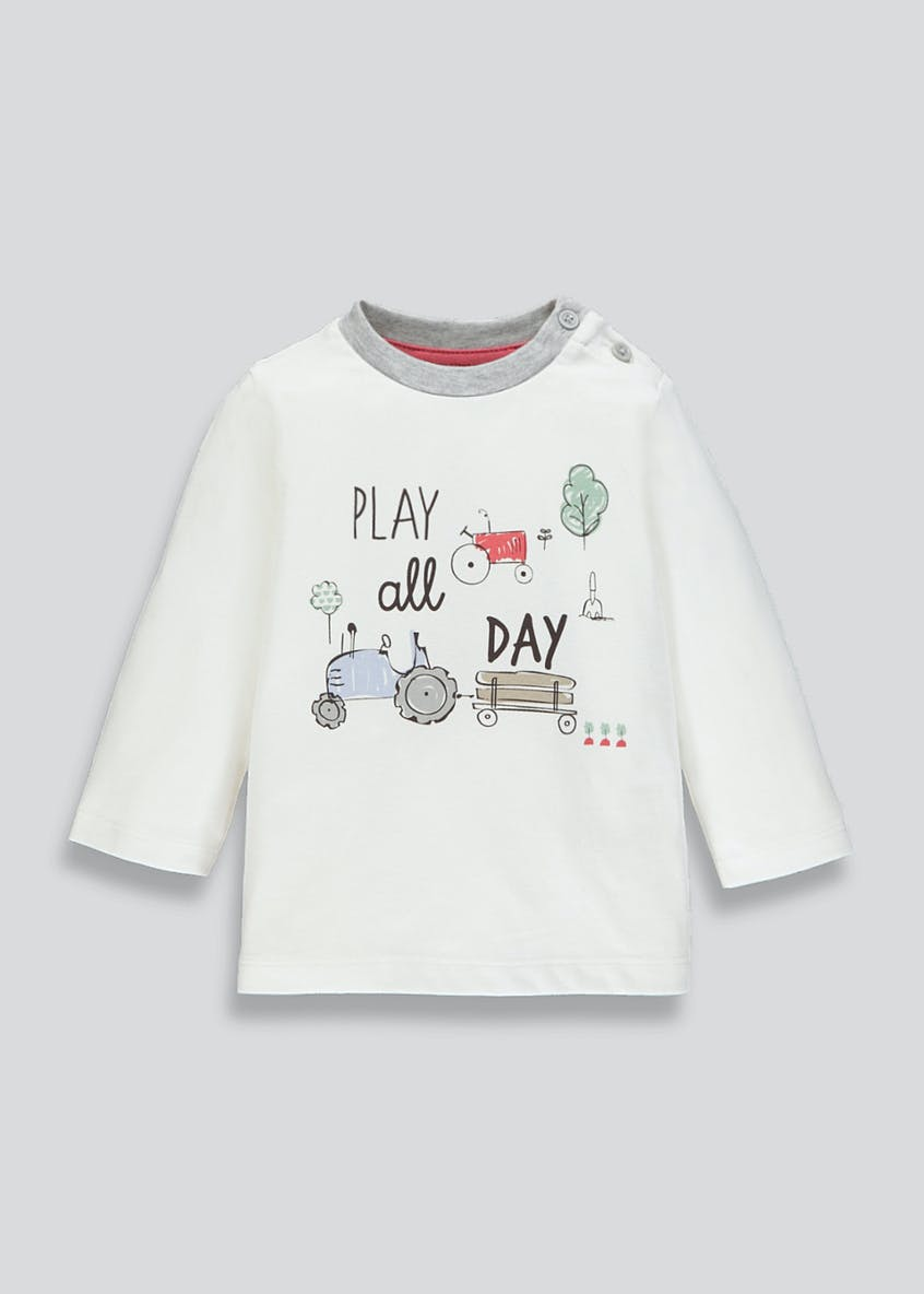 Unisex Play Slogan T-Shirt (Newborn-18mths)