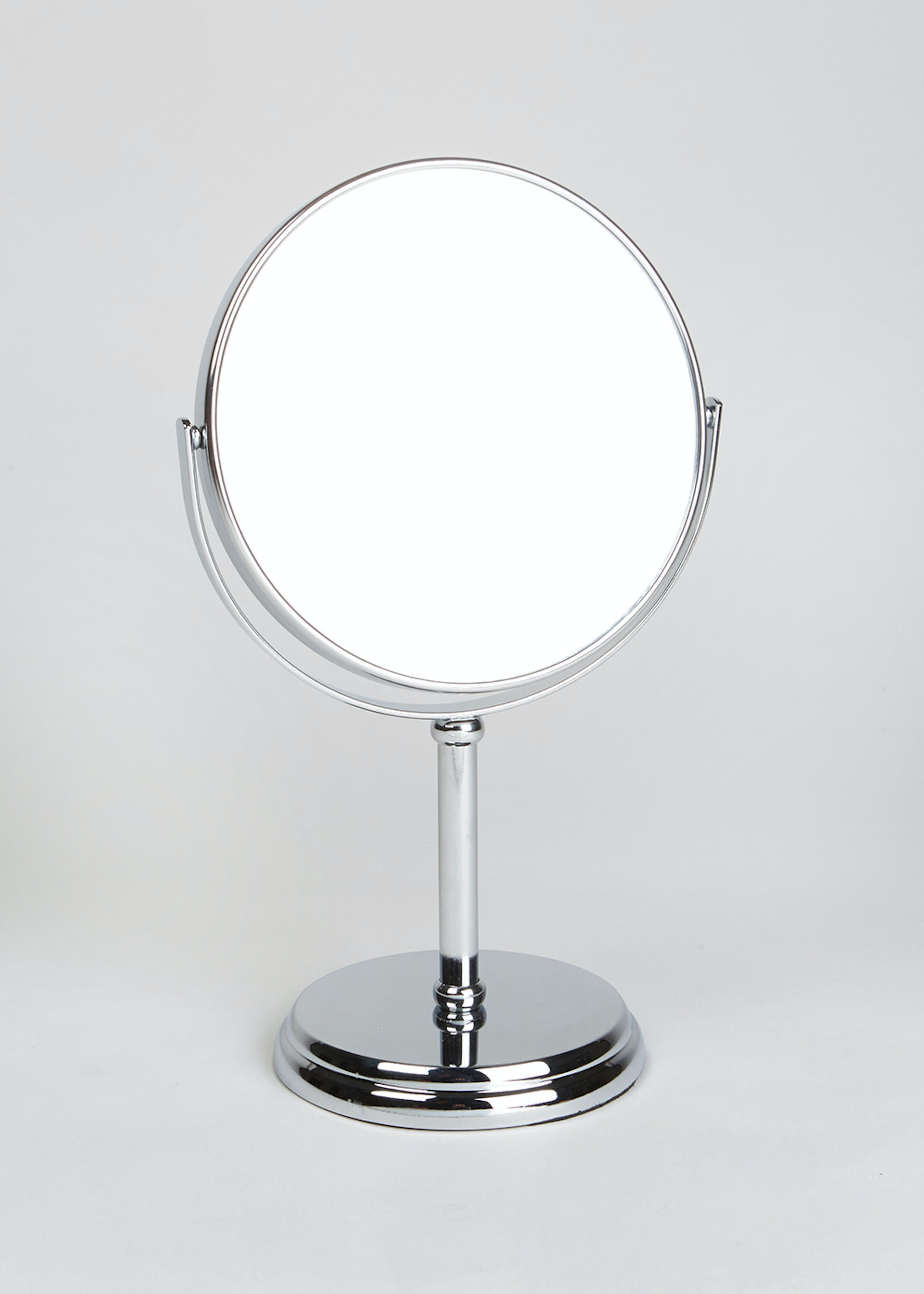 Double Sided Pedestal Mirror (30cm x 17cm) Silver 4jLDC7