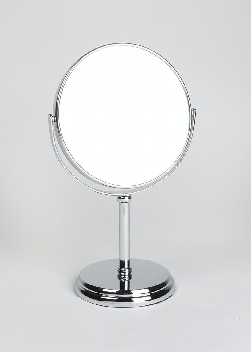 Double Sided Pedestal Mirror (30cm x 17cm)