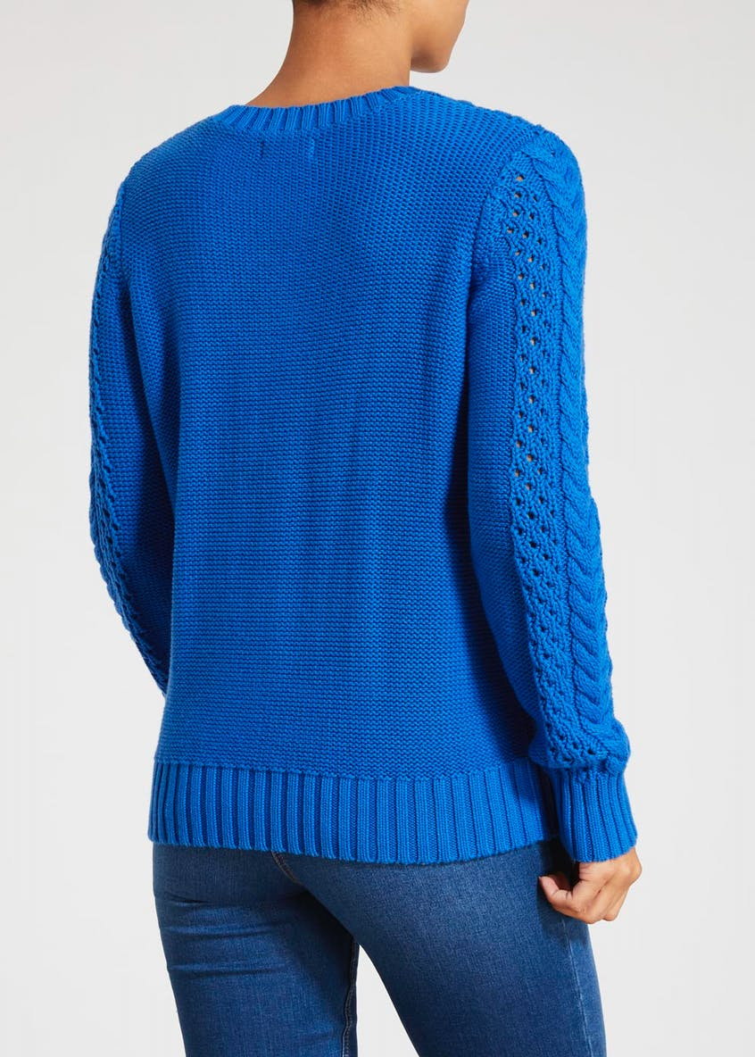 Open Stitch Cable Knit Jumper