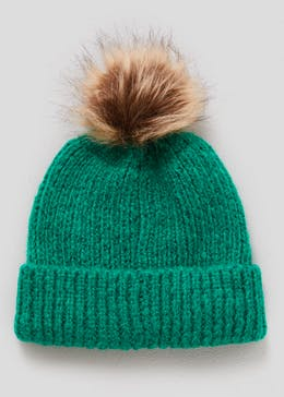 89248f4d1e1 Bright Faux Fur Bobble Hat