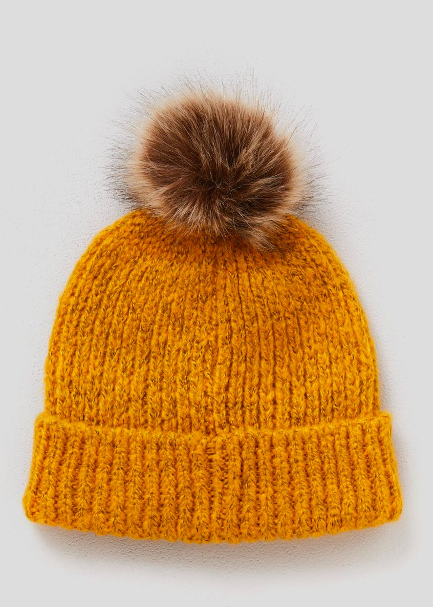 Bright Faux Fur Bobble Hat
