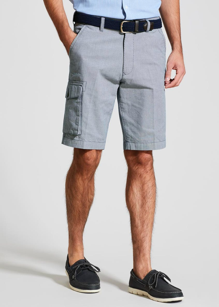 Lincoln Belted Houndstooth Chino Shorts