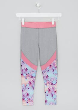 Girls Souluxe Smudge Print Sports Leggings (4-13yrs)