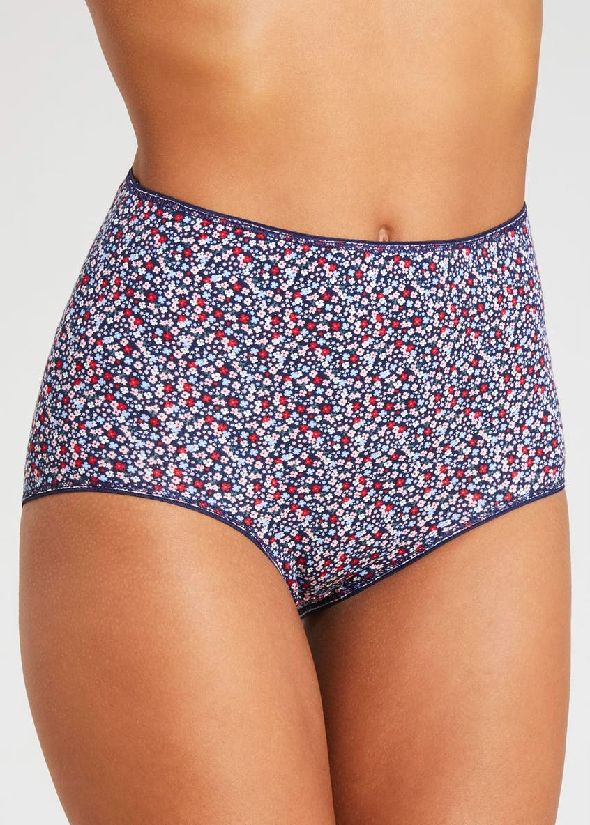 5 Pack Floral Full Knickers