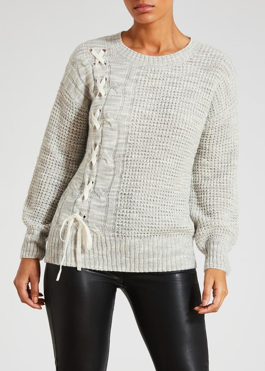Lace Up Slub Jumper