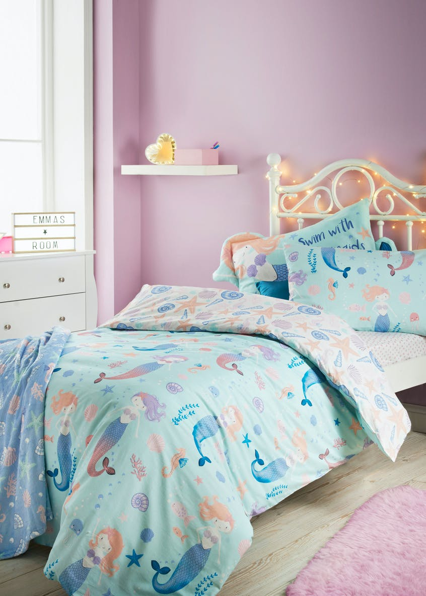 Kids 100% Cotton Mermaid Duvet Cover
