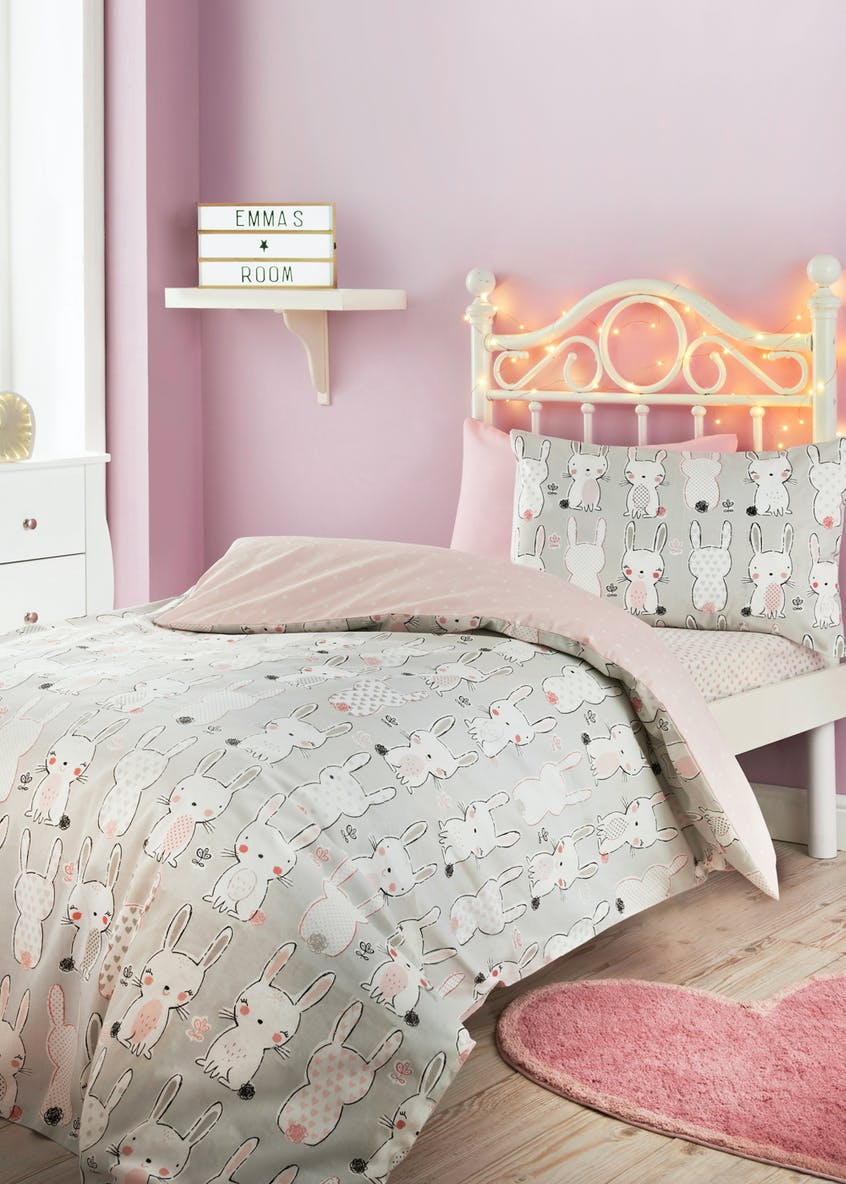 Kids 100% Cotton Bunny Duvet Cover