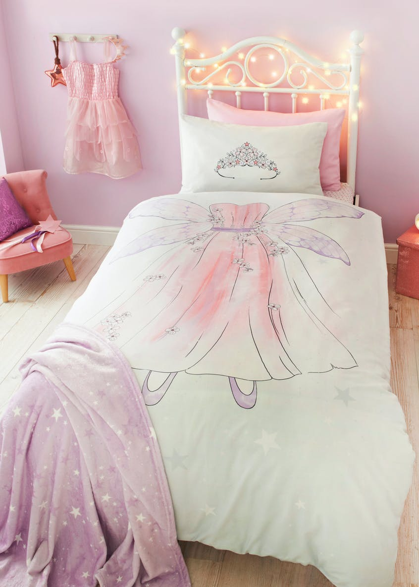 Kids 100% Cotton Fairy Duvet Cover