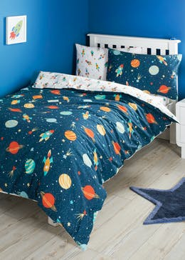 Kids 100% Cotton Space Duvet Cover