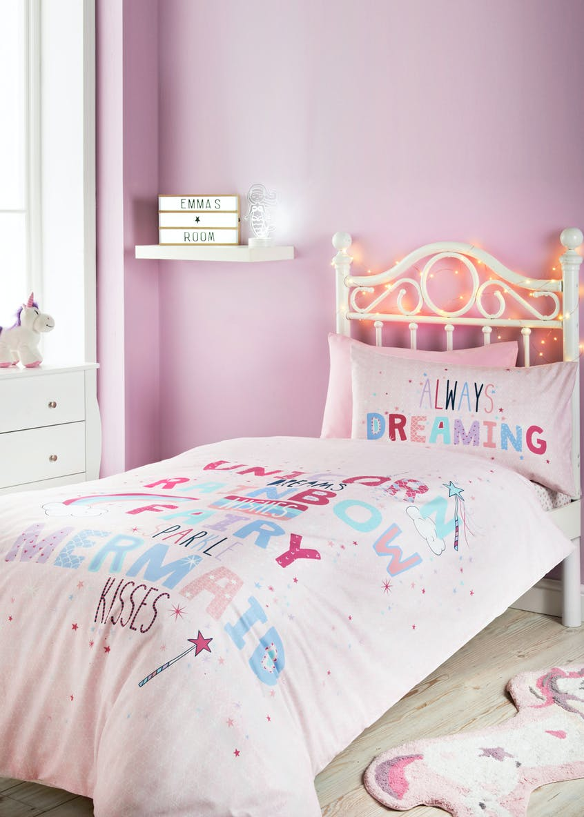 Kids 100% Cotton Always Dreaming Duvet Cover