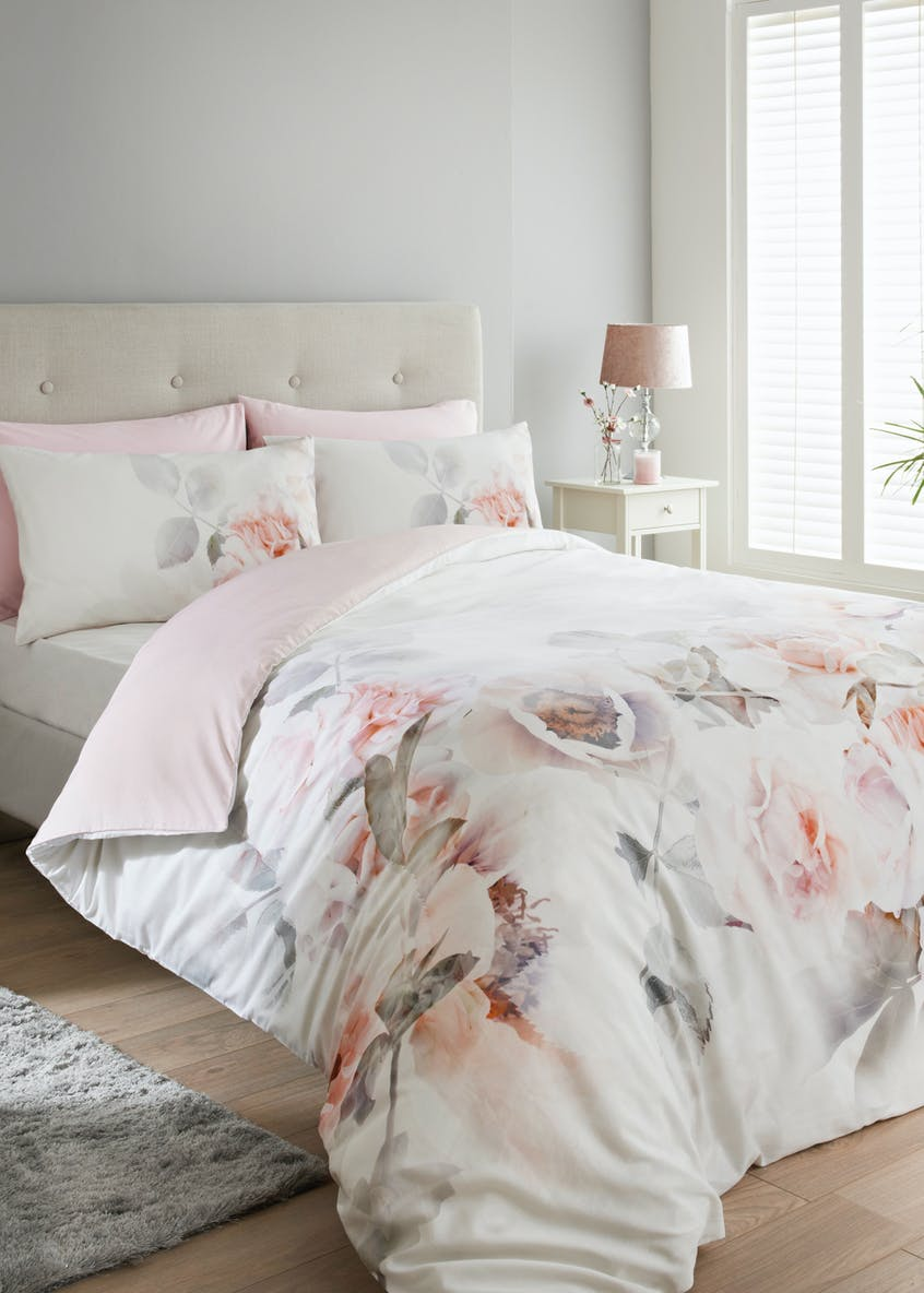 100% Cotton Digital Floral Duvet Cover (180 Thread Count)