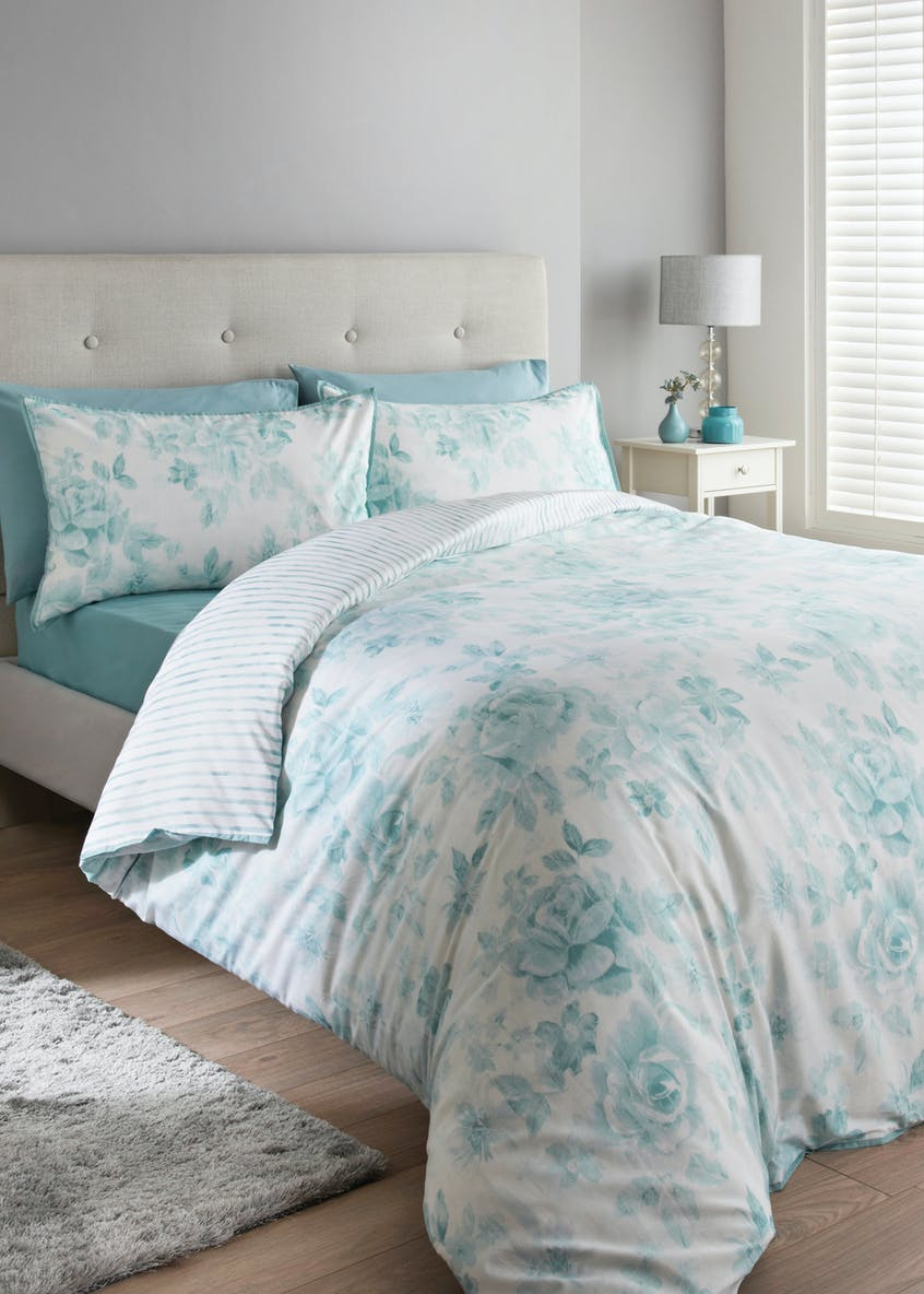 100% Cotton Floral Duvet Cover (180 Thread Count)