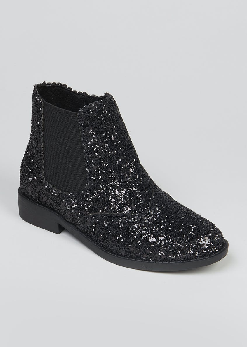 Girls Glitter Chelsea Boots (Younger 10-Older 5)