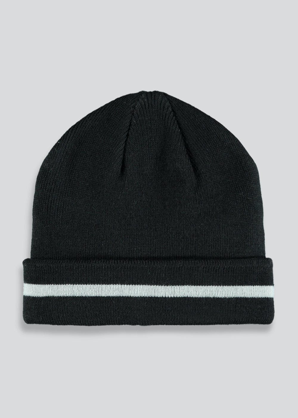 31247ac8454 Kids Turn Up Beanie Hat (One Size) – Black – Matalan