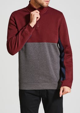 Half Zip Panel Sweatshirt