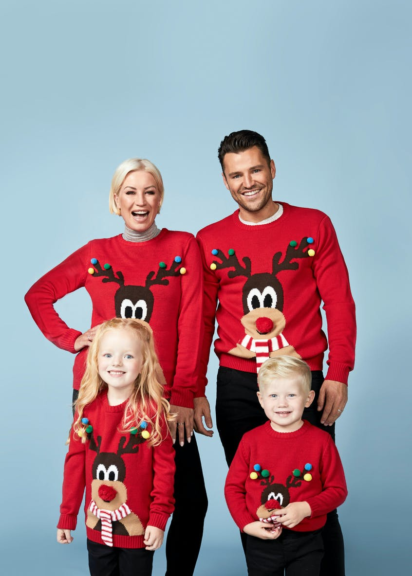 Family Reindeer Christmas Jumper