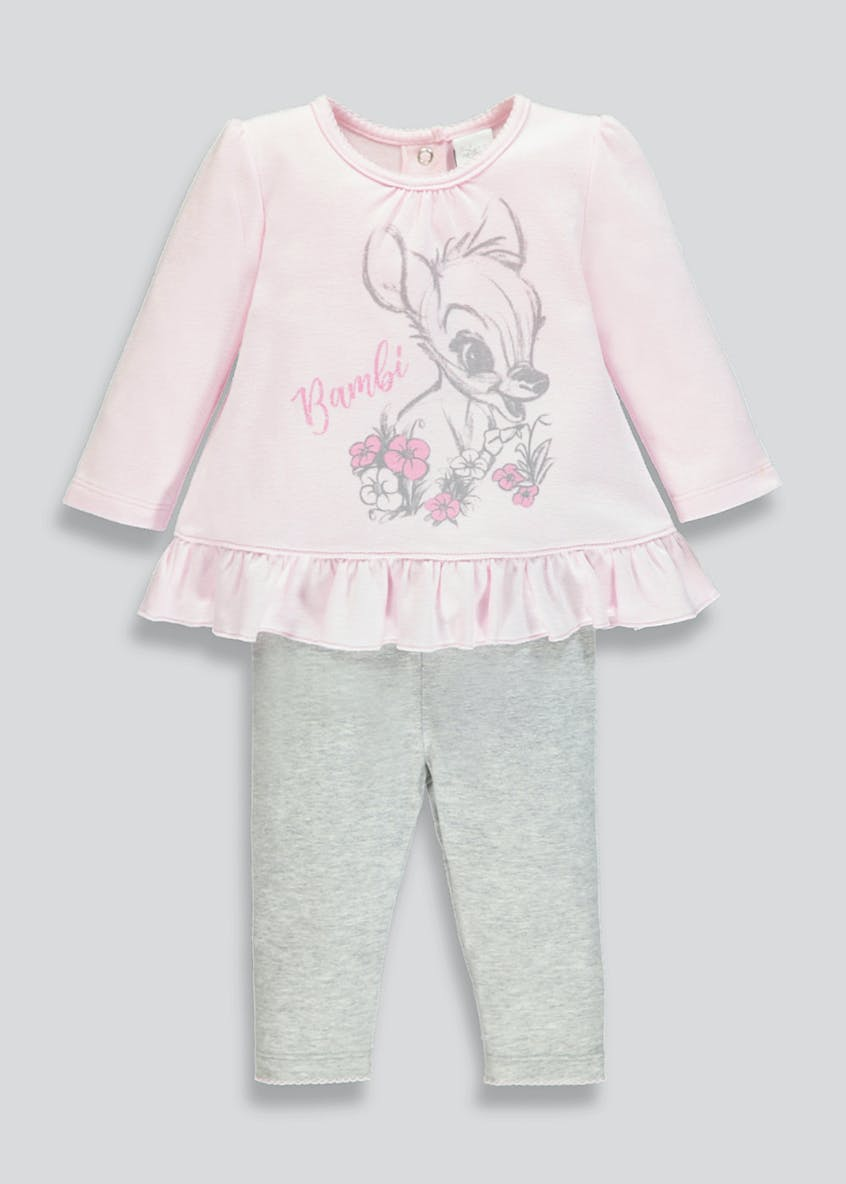 Unisex Disney Bambi Top & Leggings Set (Newborn-12mths)