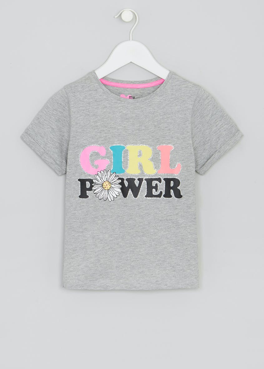 Girls Slogan T-Shirt (4-13yrs)