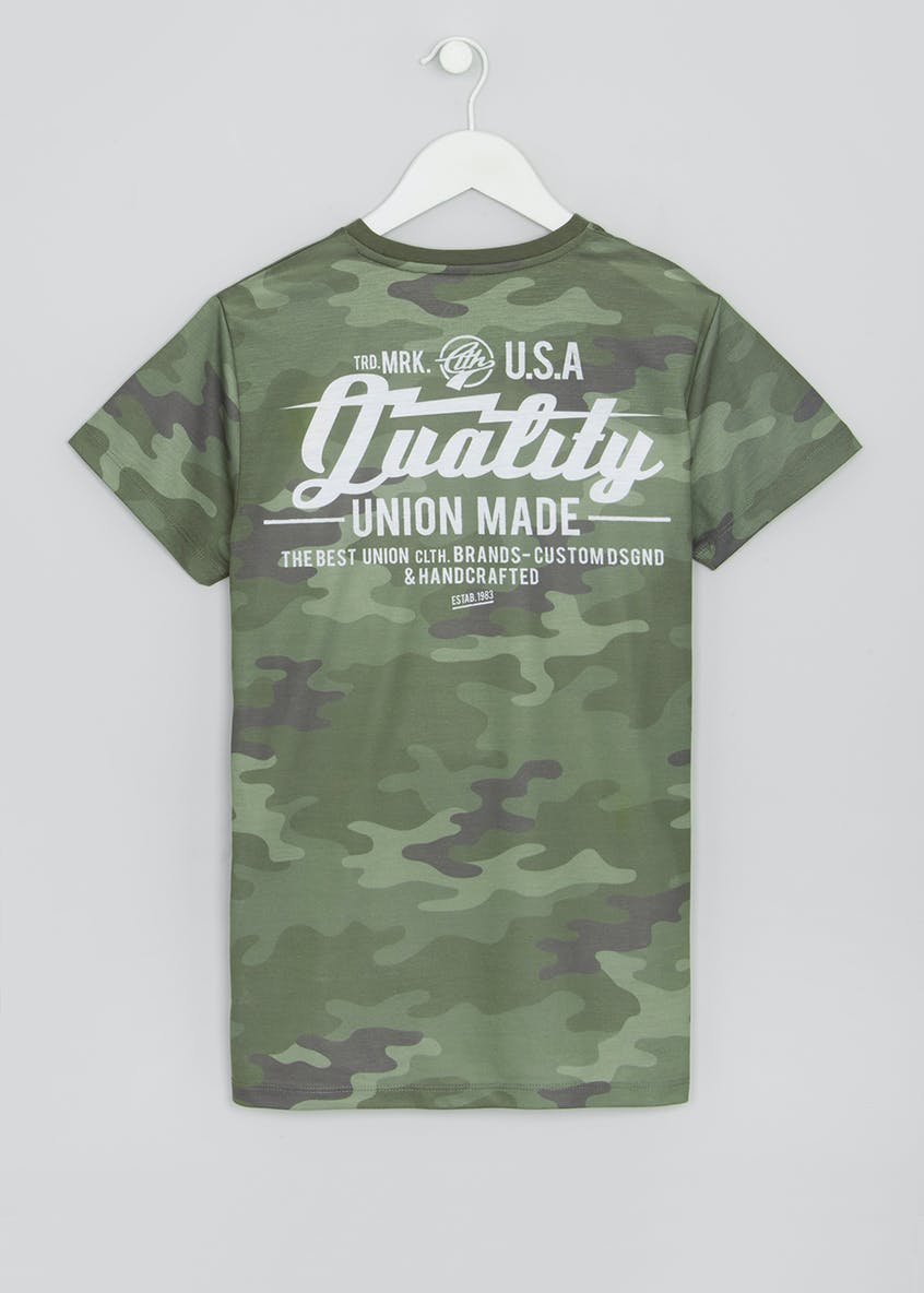 Boys Camo Printed T-Shirt (9-16yrs)