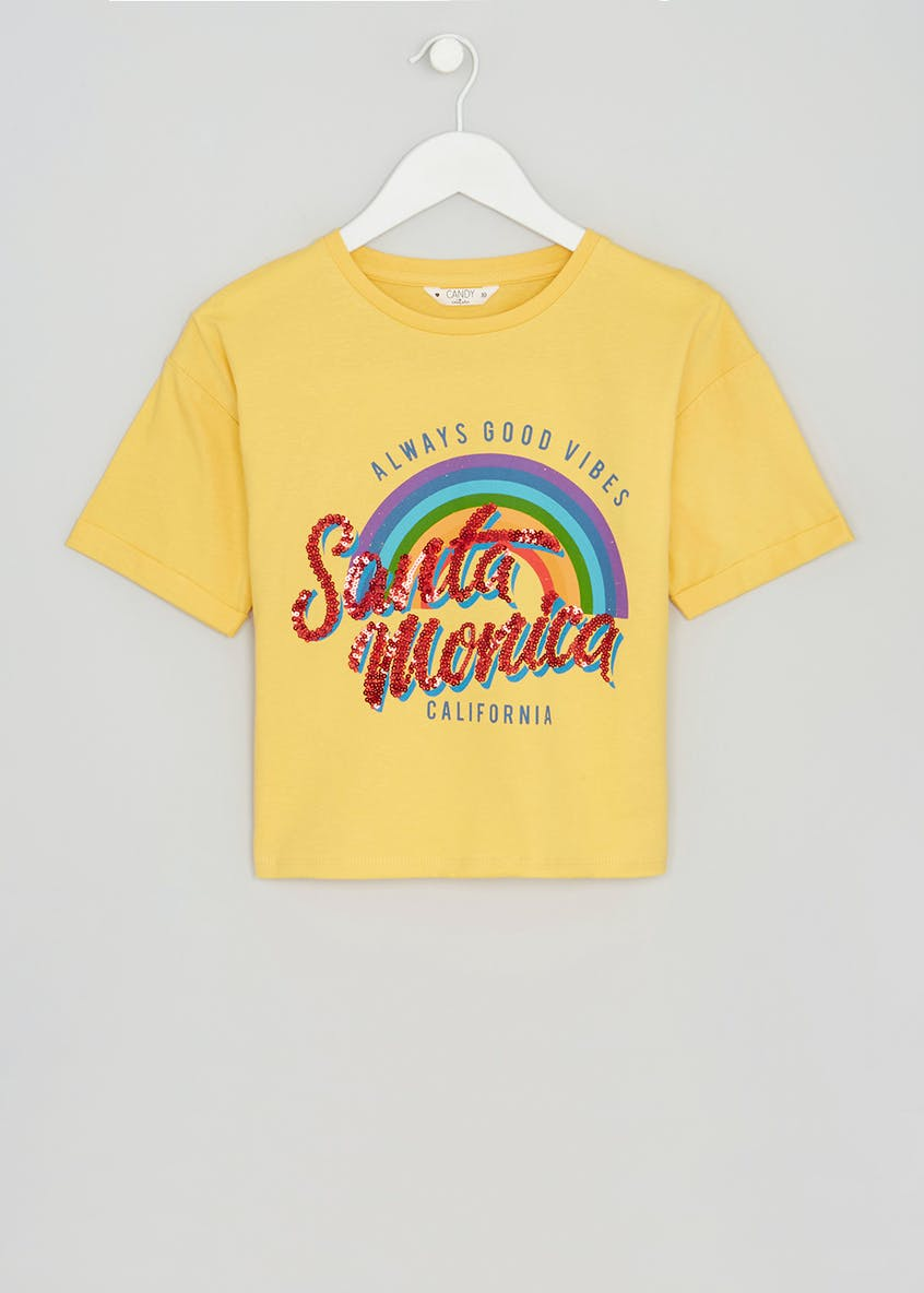 Girls Candy Couture Santa Monica Cropped T-Shirt (9-16yrs)