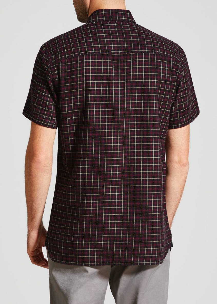 Short Sleeve Tattersall Check Shirt