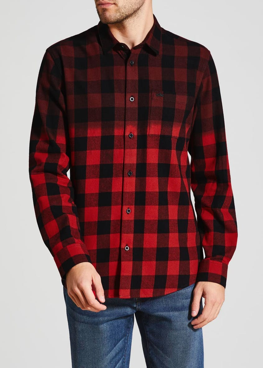 Long Sleeve Ombré Check Shirt