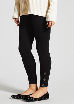 Button Hem Leggings