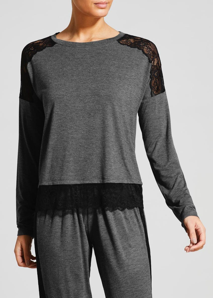 Viscose Lace Long Sleeve Pyjama Top