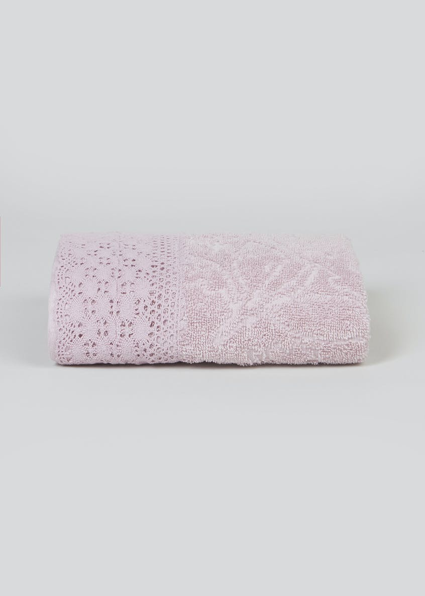 Carved Floral Lace Hand Towel (80cm x 50cm)