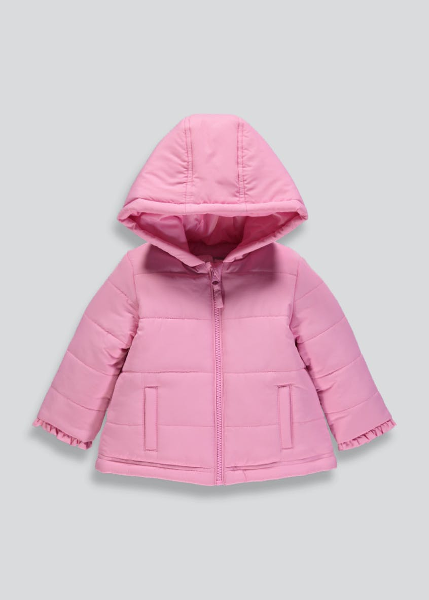 Girls Hooded Padded Jacket (9mths-6yrs)