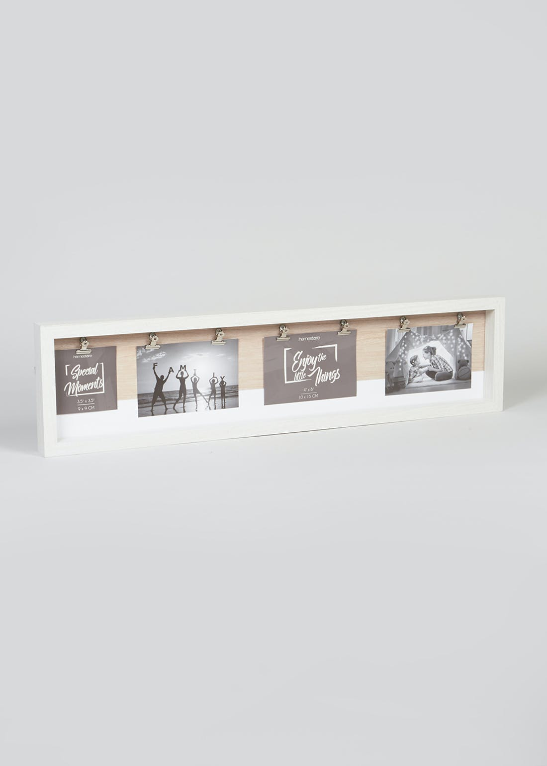 Wooden Clip Photo Frame (72cm x 18cm x 4cm)