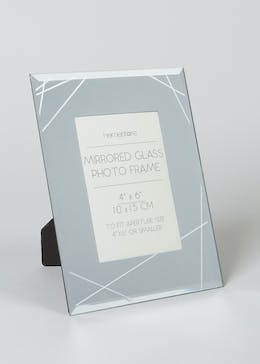 Mirrored Glass Photo Frame (23cm x 17cm x 14cm)