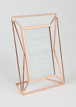Geometric Metal Photo Frame (21cm x 16cm x 7cm)