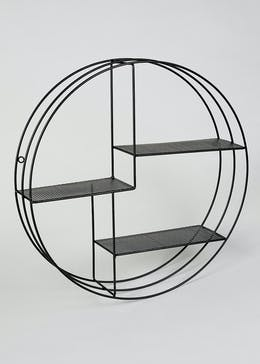 Circular Metal Shelf (52cm x 52cm x 12cm)
