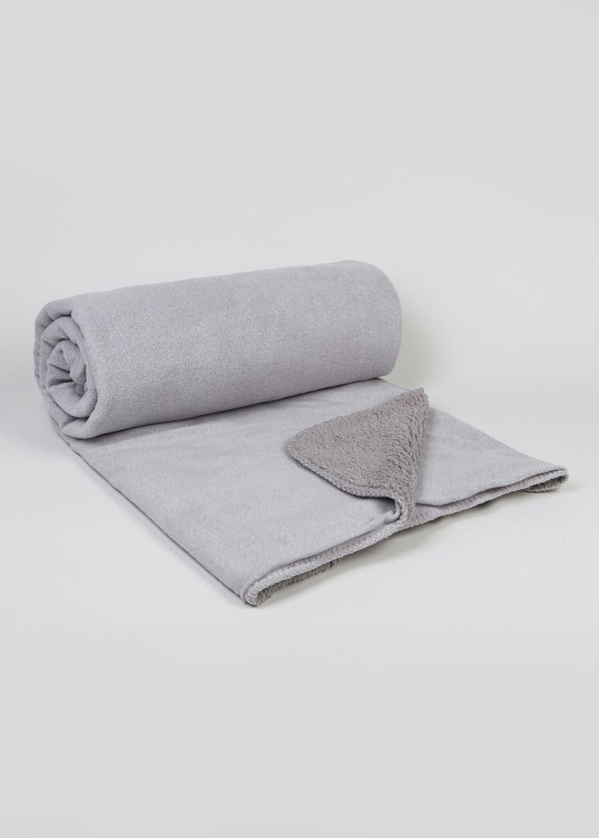 Fleece Reverse Throw (180cm x 150cm)