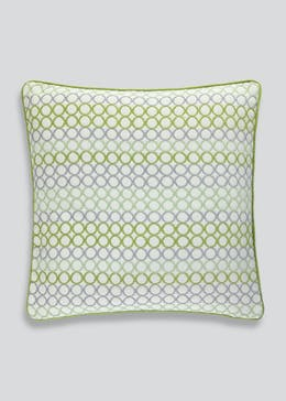 Circle Pattern Jacquard Cushion (48cm x 48cm)