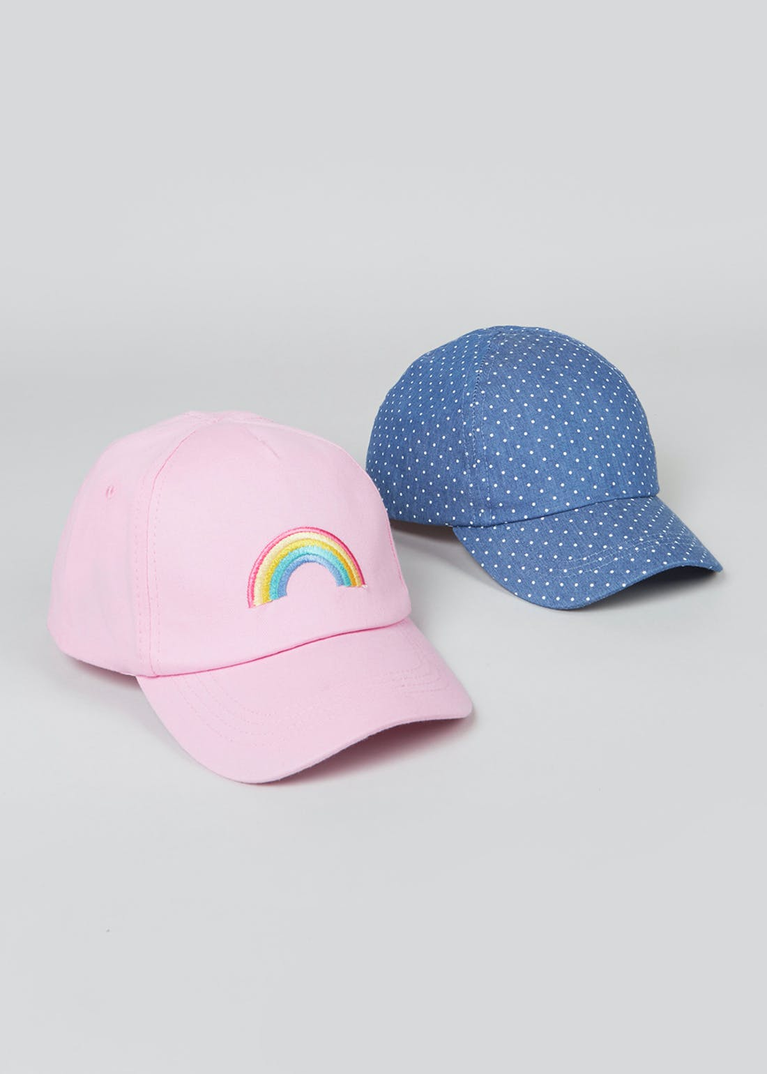 Kids 2 Pack Rainbow Caps (3-13yrs)