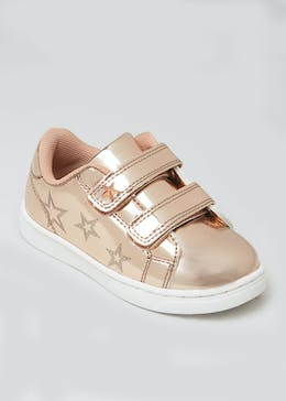 Girls Metallic Star Trainers (Younger 4-12)