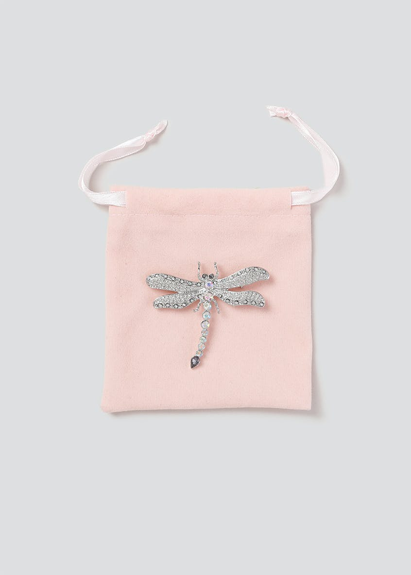 Dragonfly Crystal Brooch