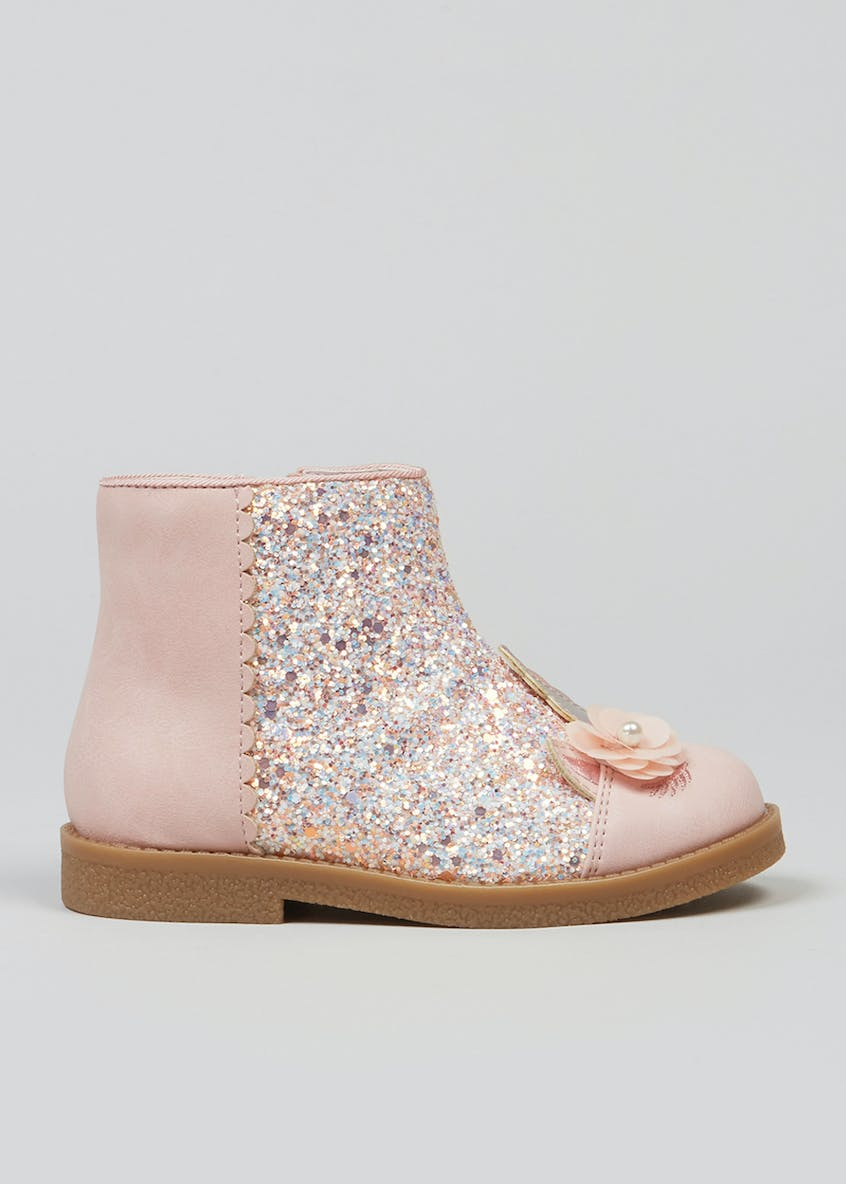 Girls Unicorn Glitter Boots (Younger 4-12)