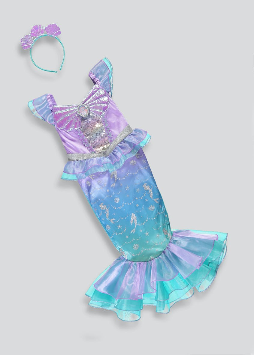 Kids Disney Princess Ariel Little Mermaid Fancy Dress Costume (3-9yrs)