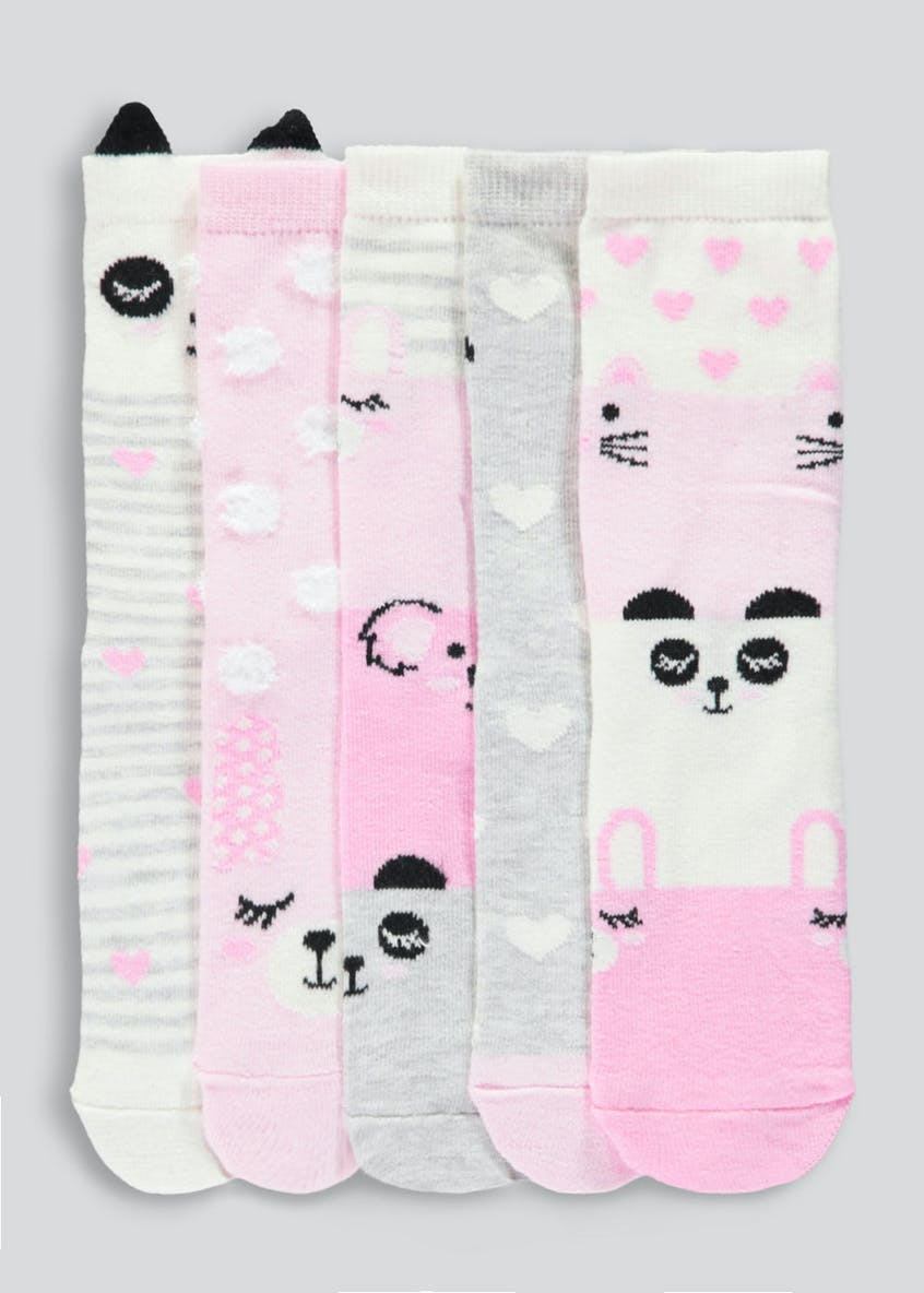 Kids 5 Pack Animal Socks (Younger 6-Older 5.5)